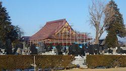 見性寺本堂 銅板葺き完成