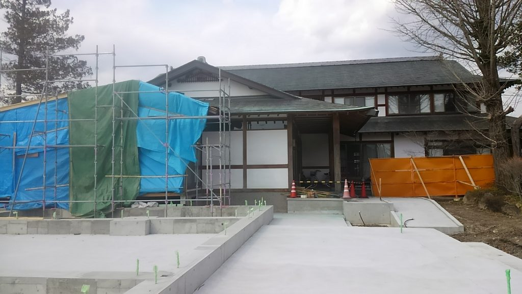 浄念寺 仮設工事