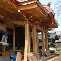 見性寺本堂 木工事一部完成