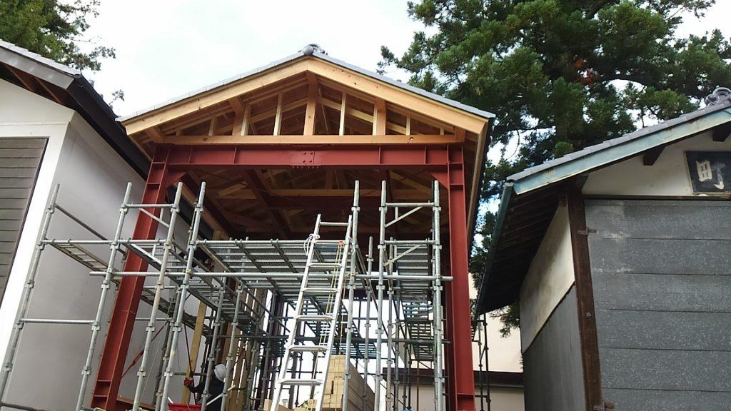 4丁目舞台蔵 屋根工事